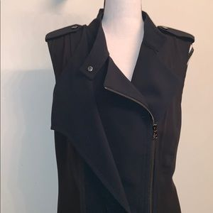 Kenneth Cole Full Double Zip Vest With Sheer Back